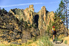 Mountain biker on trail at Smith Rock State Park, Oregon - 42-B - 72 ppi