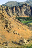 Mountain biker on trail at Smith Rock State Park, Oregon - 15 - 72 ppi
