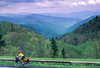 Touring cyclist in Great Smoky Mountains National Park, nearing Newfound Gap - 8 - 72 ppi