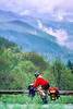 Touring cyclist in Great Smoky Mountains National Park, nearing Newfound Gap - 4 - 72 ppi