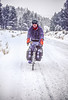 Winter bike tourer, central Oregon  - 23 - 72 ppi