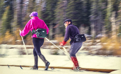Cross-country skiers in Big Cottonwood Cyn near Salt Lake City, UT - 3 - 72 ppi
