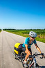 ACA - TransAm rider(s) on Hwy 105 between Toronto & US 54, Kansas - C3-0120 - 72 ppi