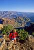 Hiker near Desert View Watchtower, Grand Canyon, Arizona - 14 - 72 dpi
