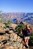 Hiker near Desert View Watchtower, Grand Canyon, Arizona - 7 - 72 dpi