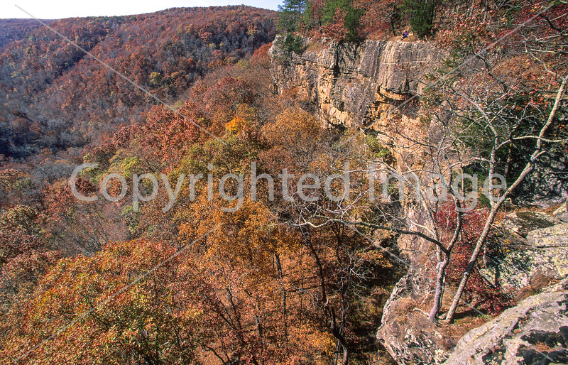 Cyclist on 1 5-mile hike to Hawksbill Crag in Upper Buffalo Wilderness Area - 15 - 72 ppi