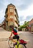 Cyclist in Eureka Springs, Arkansas - C3-30201 - 72 ppi