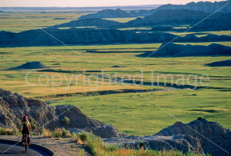 Cyclist at Badlands National Park in South Dakota - 3 - 72 ppi