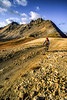 Biker at Engineer Pass on Colorado's Alpine Loop, between Lake City & Ouray - 7 - 72 ppi