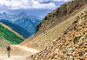 Biker at or near Ophir Pass on Colorado's Alpine Loop, between Silverton & Telluride - 17 - 72 ppi