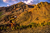Biker at Ophir Pass on Colorado's Alpine Loop, between Silverton & Telluride - 8 - 72 ppi