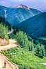 Biker at or near Ophir Pass on Colorado's Alpine Loop, between Silverton & Telluride - 23 - 72 ppi