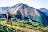 Biker at or near Ophir Pass on Colorado's Alpine Loop, between Silverton & Telluride - 18 - 72 ppi