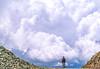 Biker at Ophir Pass on Colorado's Alpine Loop, between Silverton & Telluride - 2-Edit - 72 ppi