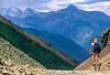 Biker at Ophir Pass on Colorado's Alpine Loop, between Silverton & Telluride - 4 - 72 ppi