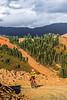 Biker at or near Ophir Pass on Colorado's Alpine Loop, between Silverton & Telluride - 20 - 72 ppi