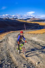 Mountain biker on Colorado's Alpine Loop - Lake City to Engineer Pass in San Juan Mts  - 28 - 72 ppi