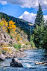 Mountain biker on Colorado's Alpine Loop - Lake City to Engineer Pass in San Juan Mts  - 30 - 72 ppi
