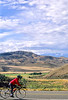 Thin-tire cyclist at Black Cyn of the Gunnison, Colorado - 7 - 72 ppi