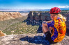 Thin-tire cyclist in Colorado Nat'l Monument, CO - 20 - 72 ppi