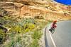 Thin-tire cyclist in Colorado Nat'l Monument, CO - 34 - 72 ppi
