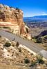 Thin-tire cyclist in Colorado Nat'l Monument, CO - 8 - 72 ppi