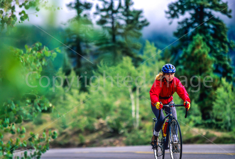 Thin-tire cyclist on US 550 between Silverton & Durango, CO - 8 - 72 ppi
