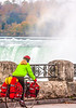 Touring cyclist viewing American side of Niagara Falls, NY-0586 - 72 ppi-2