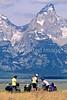 ACA bike tourers in Tetons Nat'l Park, Wyoming - 1 - 72 ppi