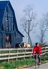 Biker on morning workout ride near Kentucky River between  Richmond & Lexington, KY - 6 - 72 ppi-2