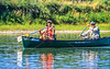Canoeists on Missouri River near White Cliffs on L&C Trail in MT - 4-2 - 72 ppi