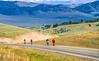 Cyclists near Lemhi Pass on Lewis & Clark Trail, ID-MT border - 4-2 - 72 ppi-2