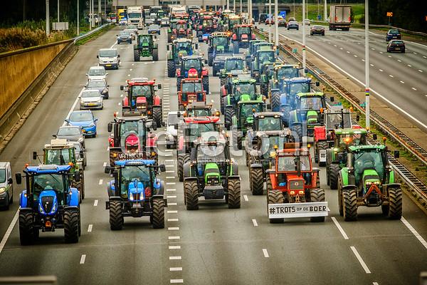 Boerenprotest op weg naar Den Haag