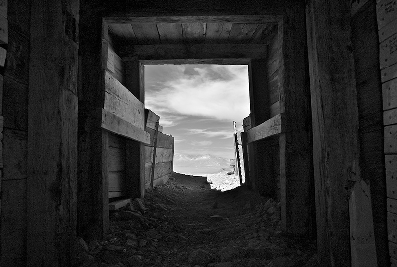 Entrance to 'Burro' Schmidt Tunnel – Last Chance Canyon, CA – 2011