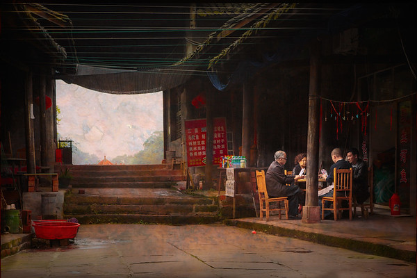 A quiet game of cards, Chengdu, Leshan