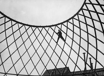 05 Otto Bartning, Baustelle Deutscher Reichspavillon, Mailand, 1926.