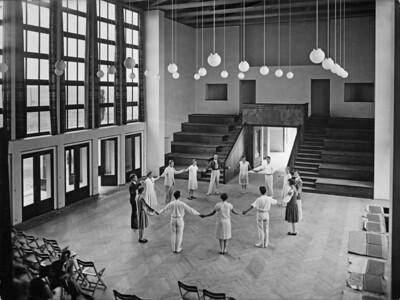 08 Otto Bartning, Musikheim, Haupthalle, Frankfurt/Oder, 1929.
