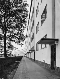 09 Otto Bartning, Siedlung Siemensstadt, Wohnzeile, Nordfassade, Berlin, 1930.