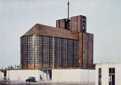06 Otto Bartning, Stahlkirche auf der Ausstellung Pressa, Köln, 1928.