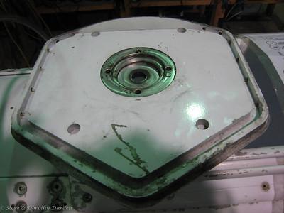 Aft bulkhead showing recess for spherical bearing, self-aligning bearing