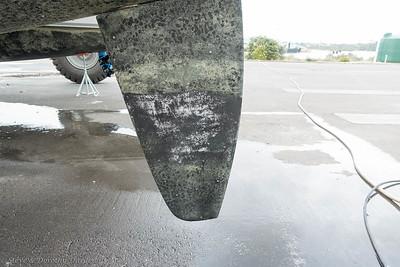 Antifoul pressure wash 2000 psi - antifoul not adhered to 3500
