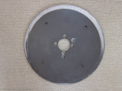 Furling drum aft plate - showing severe wear caused by distorted plate rubbing on the fairing