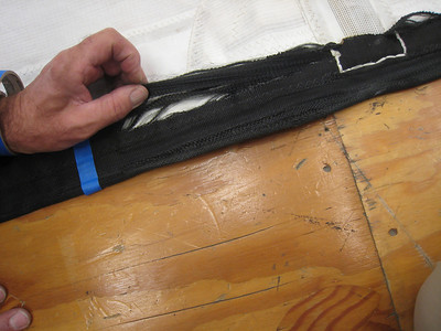 Luff tape failure