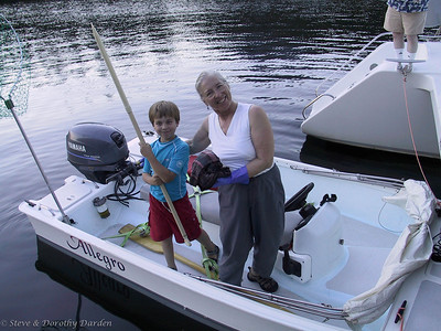 David and Dorothy paddled the dinghy a long distance in Prideaux Haven