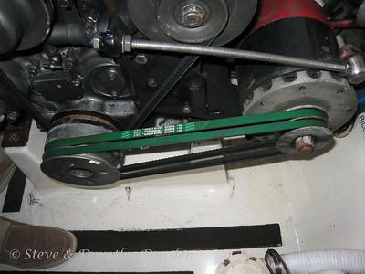 Port engine Electrodyne alternator pulleys and belts