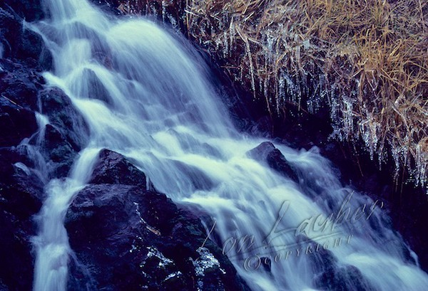 Scenery, Adak, Alaska, waterfall, winter