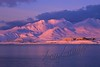 Scenery, Adak, Alaska, Mount Moffet, and NSGA buildings, winter