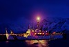 Scenery, Adak, Alaska, U.S. Coast Guard Cutter, Storis, night scene