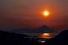 Scenery, Adak, Alaska, sunset, Tanaga volcano