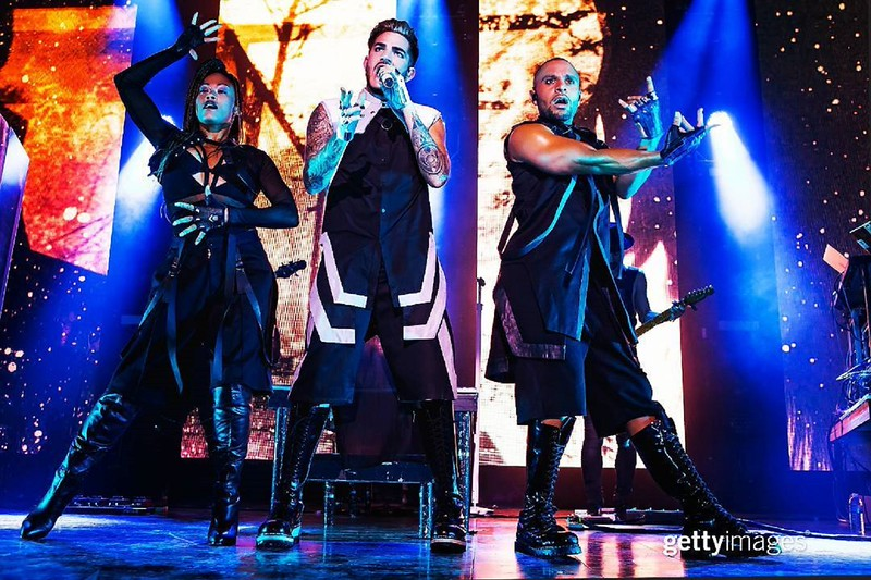 gettyentertainment  #AdamLambert performs at House of Blues Boston I February 24, 2016 I 📷: @iammoustache / Getty Images